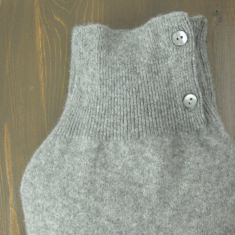 Heather Grey 100% Cashmere Hot Water Bottle Cover