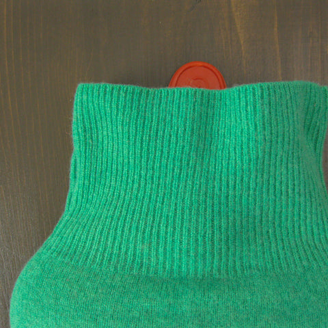 Soft Green 100% Cashmere Hot Water Bottle Cover
