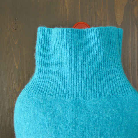 Cashmere Hot Water Bottle Cover - Turquoise