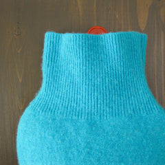 hot water bottle covers - Cashmere Hot Water Bottle Cover - Turquoise - effie handmade