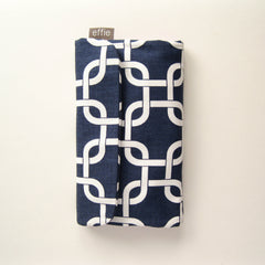 All-in-One Brush Roll & Makeup Bag in Navy