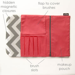 All-in-One Brush Roll & Makeup Bag