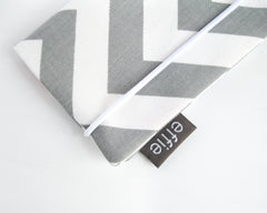 passport cover - Grey Chevron Passport Cover - effie handmade