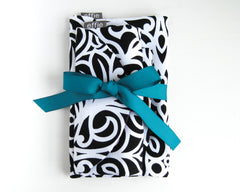travel gift set - Three Piece Black & White Travel Set - effie handmade