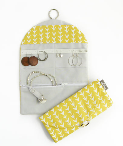 Jewelry Travel Organizer - Yellow Vines