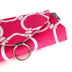 travel jewelry organizers - Travel Jewelry Organizer - Modern Pink Circles with Grey - effie handmade