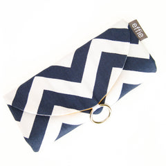 travel jewelry organizers - Travel Jewelry Case - Navy and White Chevron with your choice of lining colors - effie handmade
