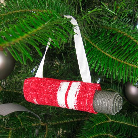 Christmas Tree Ornament - Red & White
