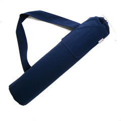 navy yoga mat bag for man or woman by effie handmade