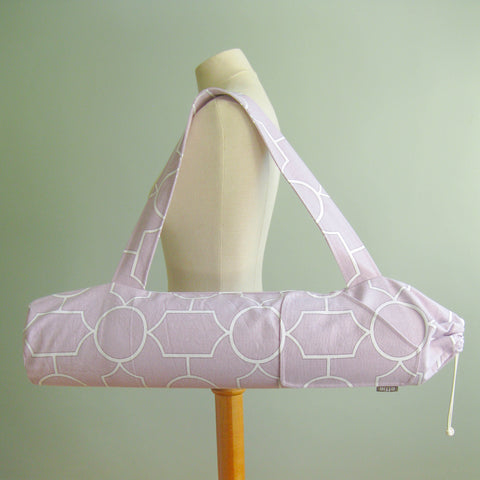 Yoga Mat Bag - Lilac Purple Trellis