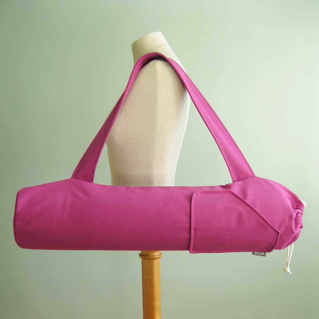yoga mat bags - Yoga Mat Bag - Bright Purple - effie handmade