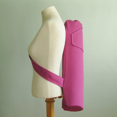handmade yoga mat bag - bright purple