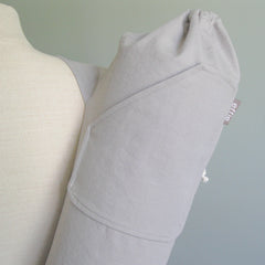 yoga mat bags - Yoga Mat Bag - Solid Gray - effie handmade