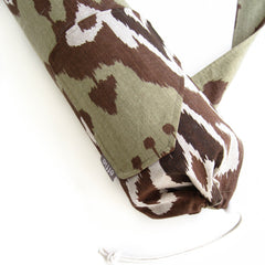 yoga mat bags - Yoga Mat Bag - Green and Brown Ikat Print - effie handmade