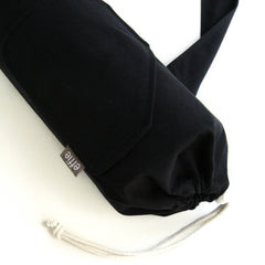 yoga mat bags - Yoga Mat Bag - Solid Black - effie handmade