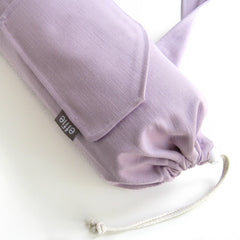 Handmade yoga mat bag modern light purple lavender