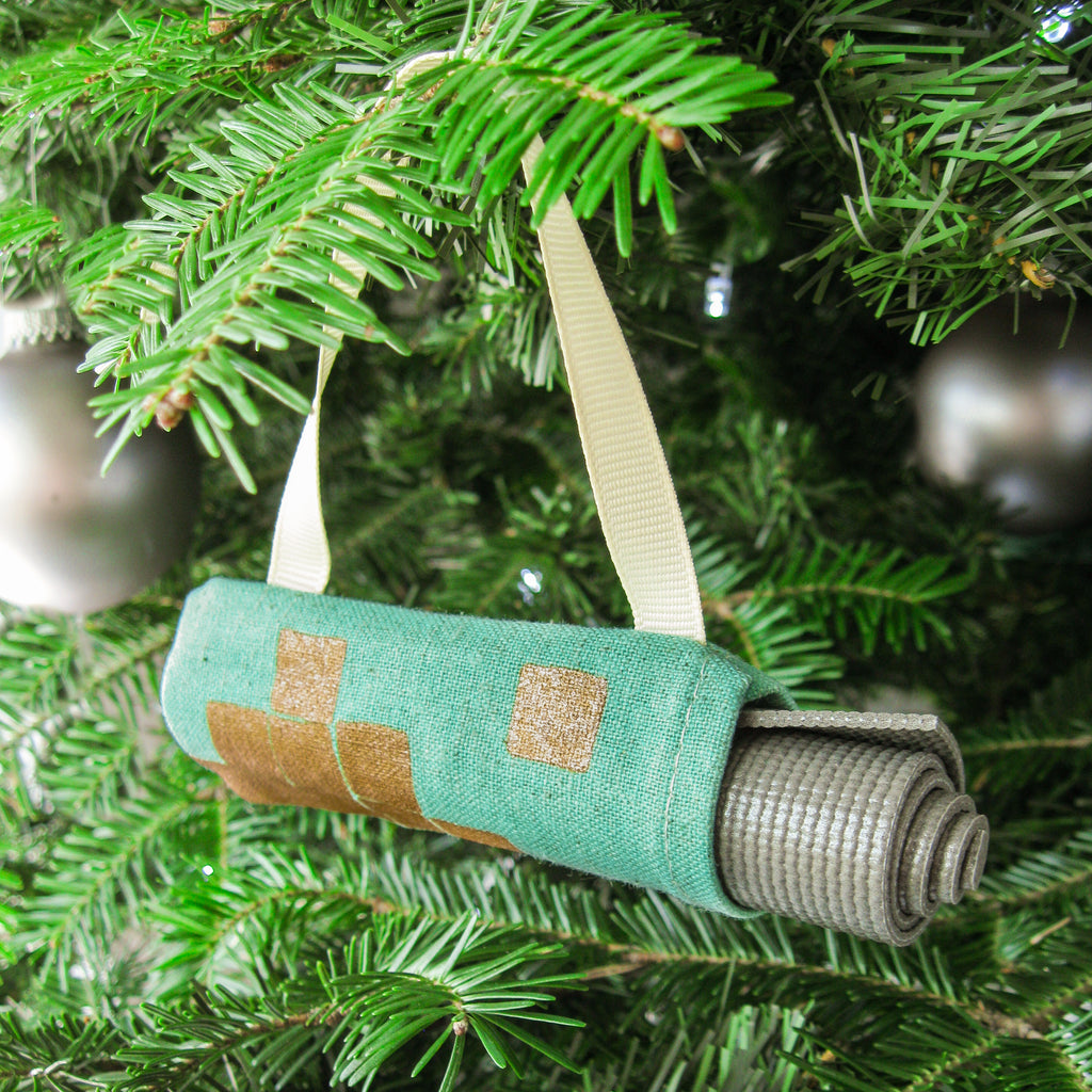 Christmas Tree Ornament - Mint & Copper