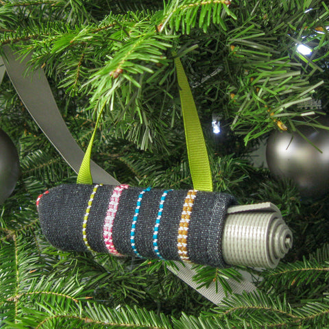 Christmas Tree Ornament - Denim Stripe