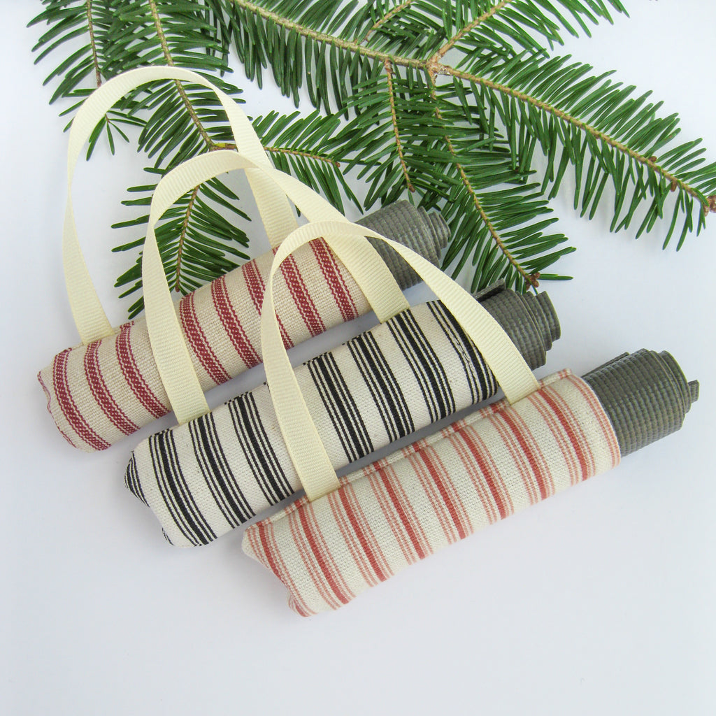 Ornaments - Yoga Gifts for Friends - Yoga Christmas Ornament Set - effie handmade