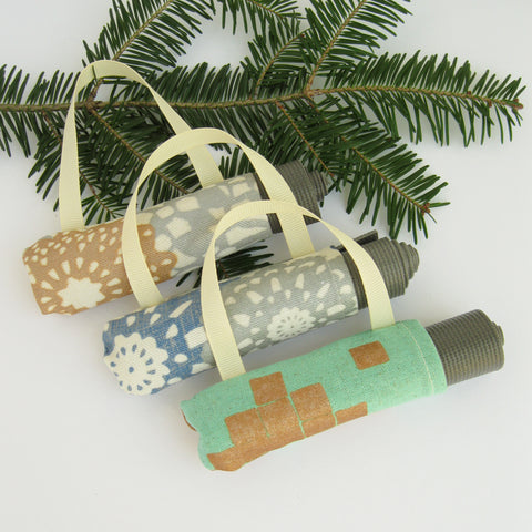 Set of 3 Yoga Christmas Tree Decorations