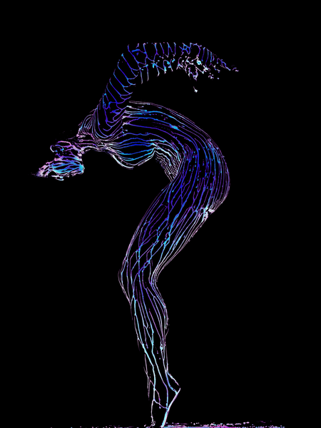 Dana Stackpole, NYC 2005 - Liquid Light Study by Howard Schatz
