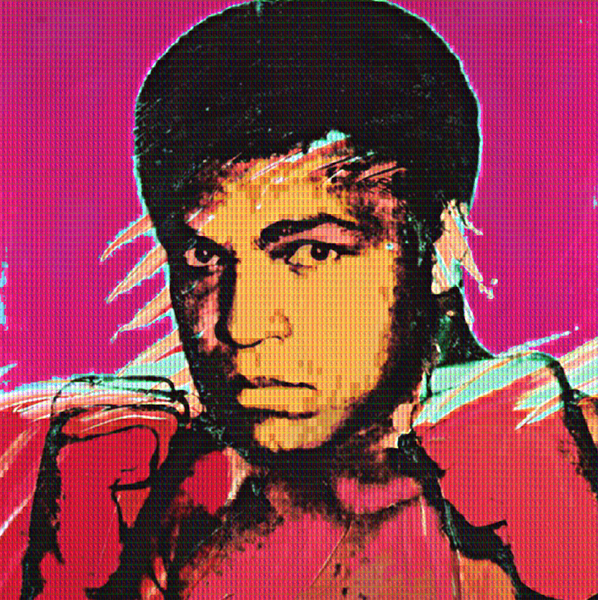 Muhammad Ali vs Warhol by Alex Cao