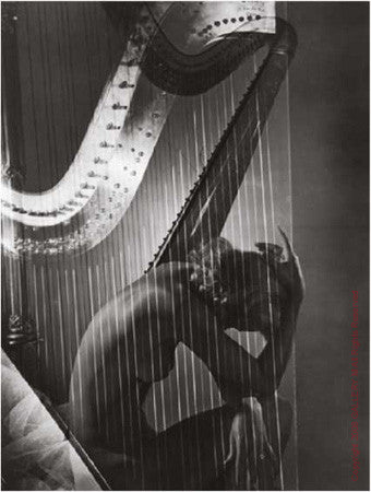 Lisa with Harp by Horst P Horst