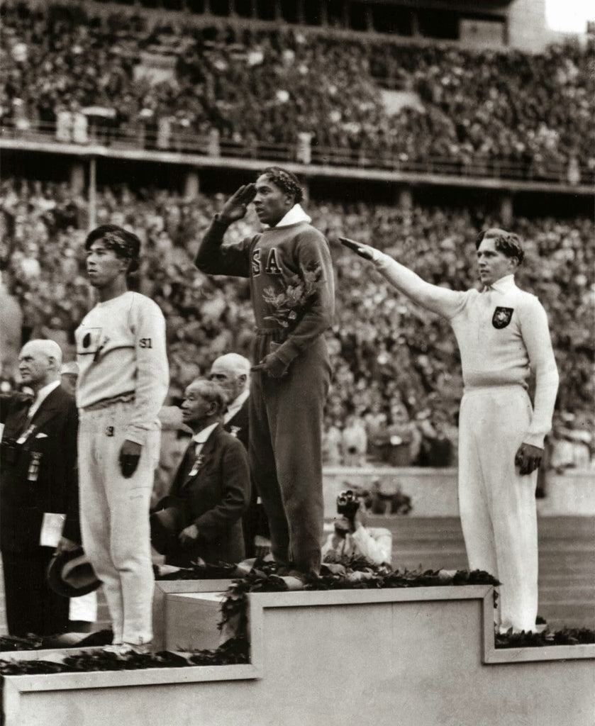 Jesse Owens, 1936 Olympic Long Jump Medals Ceremony