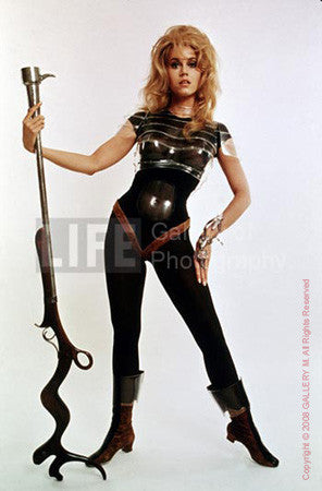 Actress Jane Fonda in publicity still for Barbarella by Carlo Bavagnoli