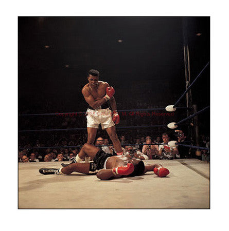 Muhammad Ali Ko's Sonny Liston by Neil Leifer