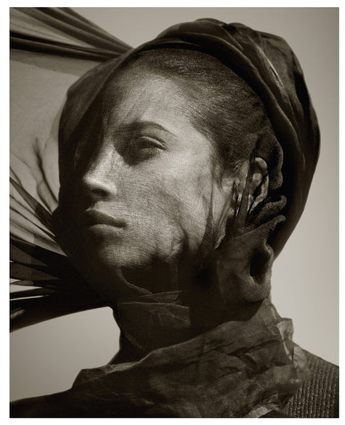 Christy Turlington in Scarf by Albert Watson