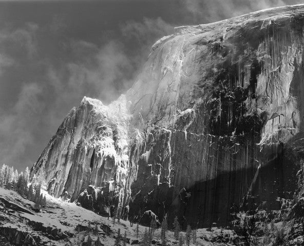 Half Dome Blowing Snow Yosemite