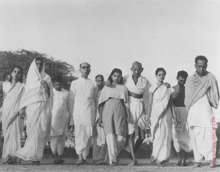 Gandhi's Morning Walk by Margaret Bourke-White