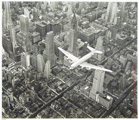 DC-4 Flying Over NYC by Margaret Bourke-White