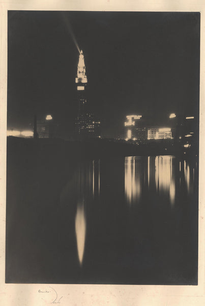 Terminal Tower At Night, Cleveland (Vintage)