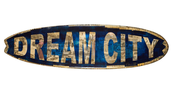 Peter Tunney Dream City Surf Board Art