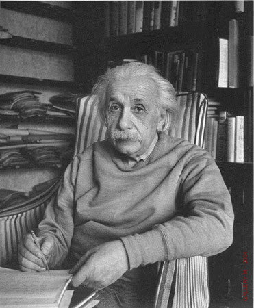 Albert Einstein with Pencil by Alfred Eisenstaedt