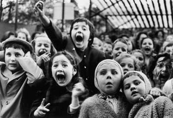 Children at Puppet Theatre by Alfred Eisenstaedt