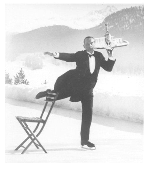 Ice Skating Waiter by Alfred Eisenstaedt