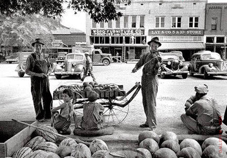 Melon Salesman and Fiddler by Alfred Eisenstaedt