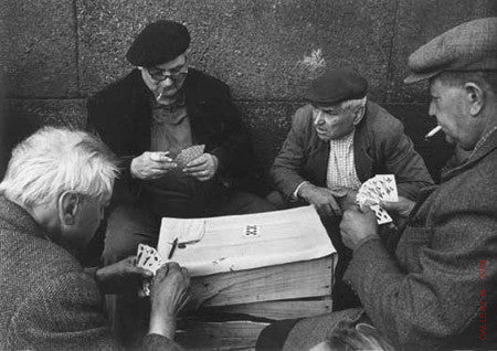 Card Players on the lle de la Cite by Alfred Eisenstaedt