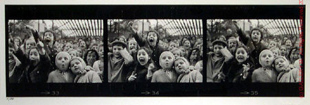 Three Frames of Children at Puppet Theatre by Alfred Eisenstaedt