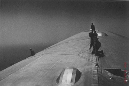 Repairing the Hull of the Graf Zeppelin in Flight by Alfred Eisenstaedt
