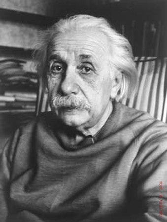 Albert Einstein (head shot) by Alfred Eisenstaedt