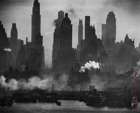 42nd Street View from Weehawken by Andreas Feininger
