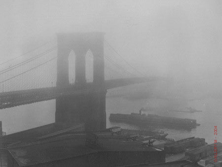 Brooklyn Bridge in the Fog by Andreas Feininger