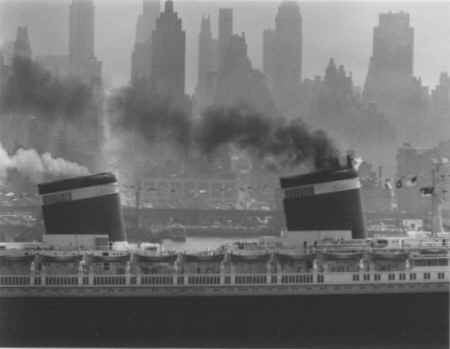 S.S. United States by Andreas Feininger