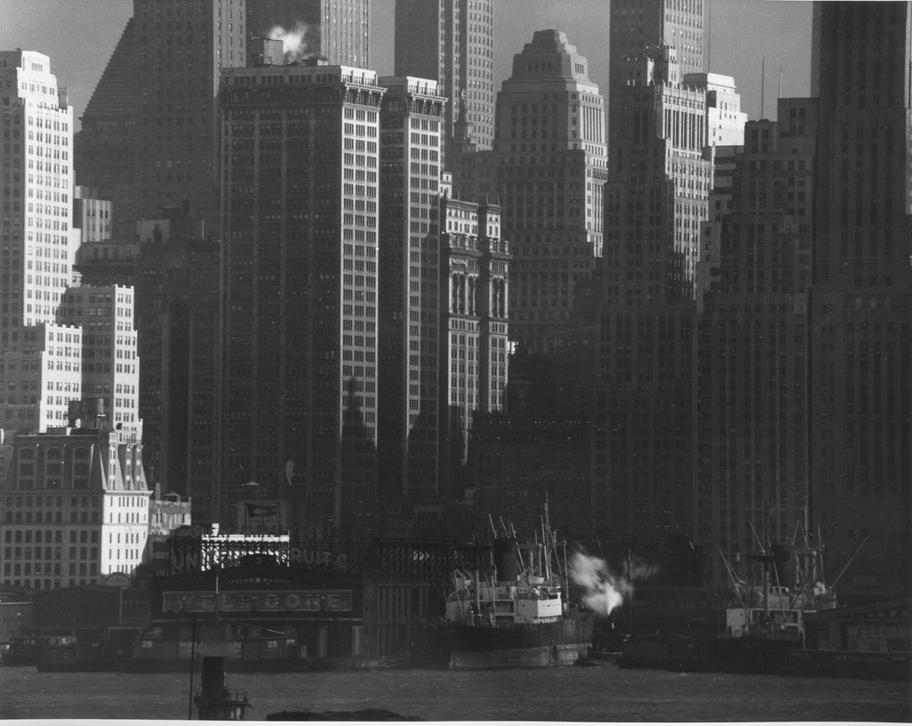 View of Downtown from New Jersey, 1947