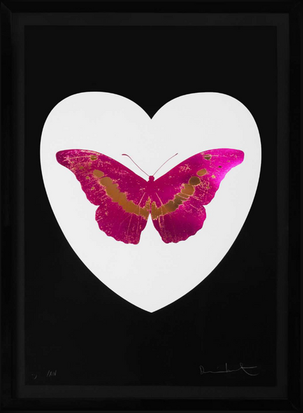 I Love You Butterfly, Fuscia/Black, 2015
