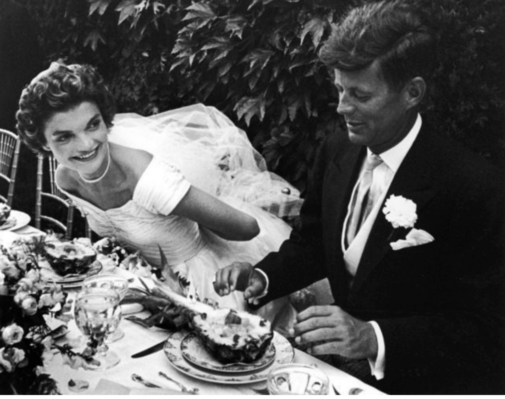 John and Jacqueline Kennedy at their Wedding Reception, 1953